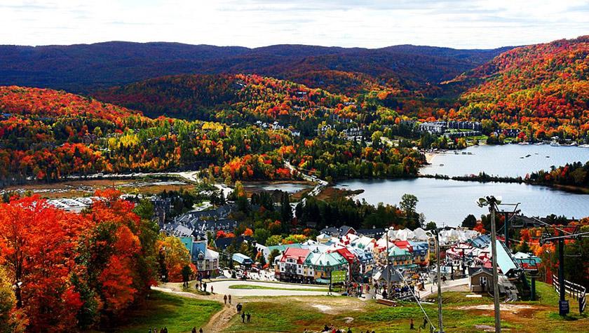 paysage mont tremblant village touristique